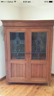Solid wood leadlight cabinet  Barden Ridge Sutherland Area Preview