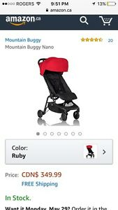 New Mountain Buggy Nano- Ruby