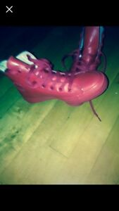 Red Converse sneakers size 6