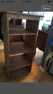Entertainment stereo console or shelves Raw Mexican Pine