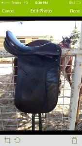 Black Leather Dressage Saddle Gawler Gawler Area Preview