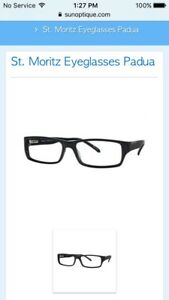 St. Moritz Padua Eyeglass Frames, new condition, Ebony black