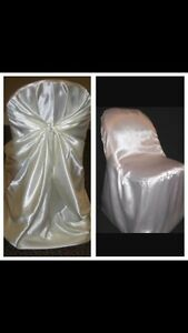 293 Ivory universal chair covers