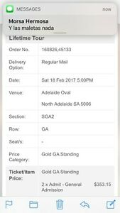Guns and Roses tickets for sale Klemzig Port Adelaide Area Preview