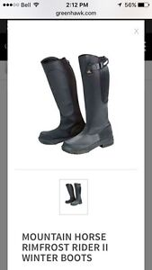 Winter riding boots