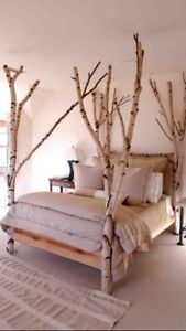 CUSTOM BIRCH TREE BED FRAMES WIYH CANOPY