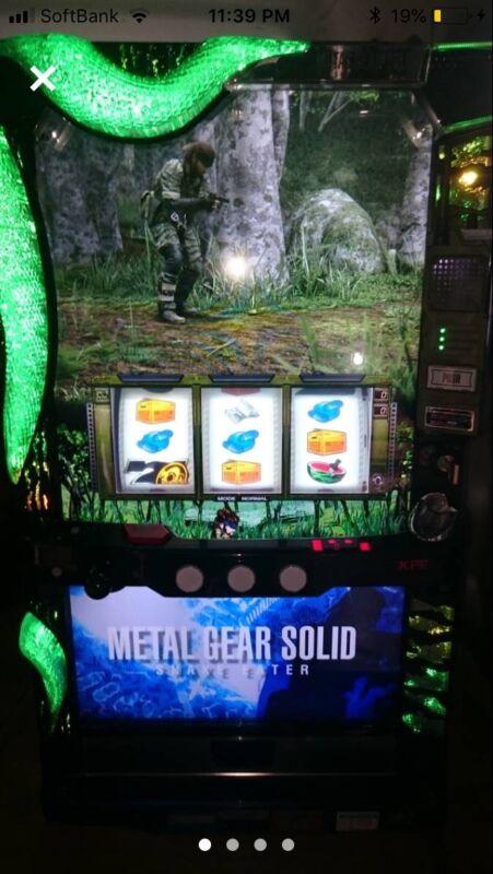 Metal Gear Solid Pachislo Machine KONAMI KPE Pachinko Slot Japanese MGS SNAKE