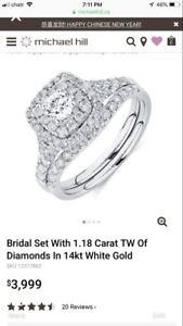 Matching Michael Hill bridal set