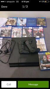 PS4 1TB console bundle 2 remotes 10 games Glen Waverley Monash Area Preview