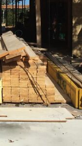 Lumber different sizes  and metal beams