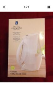 Digital water pitcher new in box filter