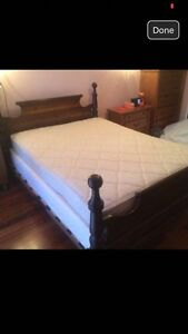 Gorgeous bed frame with mattress and box spring Queen size