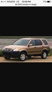 2002 Honda CR-V will trade for truck
