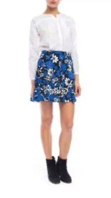 New  138 Walter Baker Tory Skirt Starry Night Sz 4 Blue Floral  W4241 Nwt
