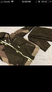 Black and Gray Champions Snow Suit