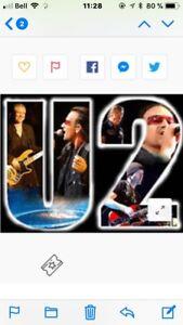 4 Billets pour U2