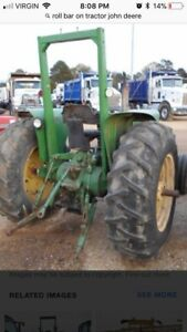 Tractor factory made roll bar