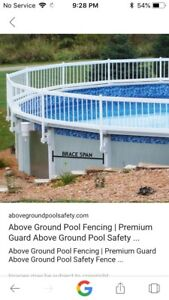 Above ground pool safety fence brand new