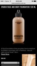 Mac face and body foundation (makeup) 120ml