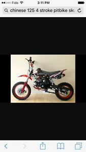 125 4 stroke pit bike w/parts bike