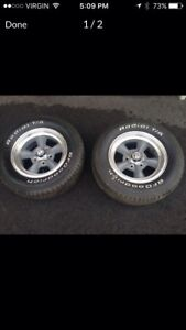 Torq thrust d wheels and tires pair
