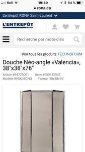Douche néo-angle Valencia 38x38x76