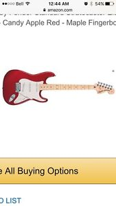Fender Squire Guitar with case, amp and tuner