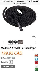 Battle rope- Rocky Mountain fitness Prince George British Columbia image 2