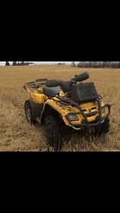 Can am outlander and Polaris Sportsman
