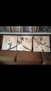 3 large ikea canvases