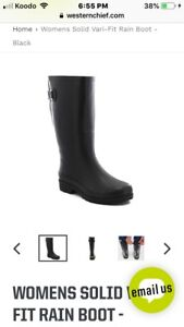 Woman's rubber boot