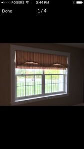 3 Roman Blinds and 1 Valance