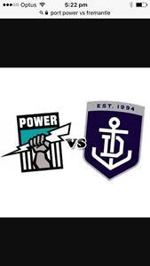 Port Power vs Fremantle Dockers (2 adult tickets) Flagstaff Hill Morphett Vale Area Preview