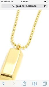 10k gold necklace gold bar