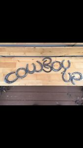 Horseshoe and railroad spike art. Custom made for you.  Edmonton Edmonton Area image 8