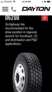New 11R22.5 Dayton D620D Tires