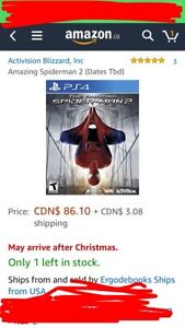 The amazing spiderman 2 for ps4