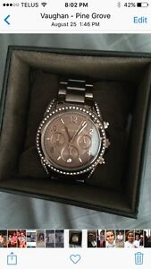 Brand new Michael Kors rose gold watch with crystals