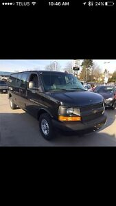 2015 Chevy express 2500  Extended van black