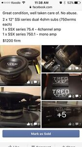 """Treo 12"""" SSi subs and SSX Amps"""