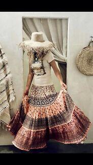 Spell lionheart maxi skirts XS & XXS