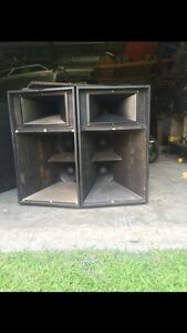 Passive Pa Speakers Horn Loaded Arrawarra Coffs Harbour Area Preview