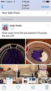 Chair covers and sashs $270 the lot Toowoomba Toowoomba City Preview