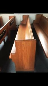Two large church pews (both are gorgeous)