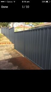 Colorbond fencing $65p/m supply & installed