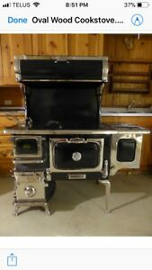 Classic Findlay Oval wood cook stove for sale.