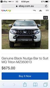 MQ triton genuine black nudge bar (black) Royalla Queanbeyan Area Preview