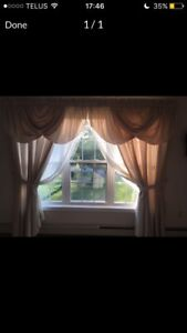 Curtains with window treatment