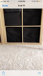 Two shelving units for sale with inserts