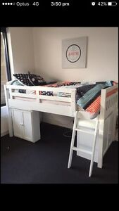 Single wooden loft bed with shelves Dandenong Greater Dandenong Preview